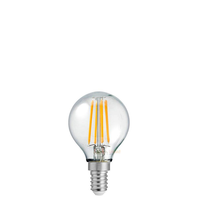4W Fancy Round Dimmable LED Bulb (E14) Clear in Natural White
