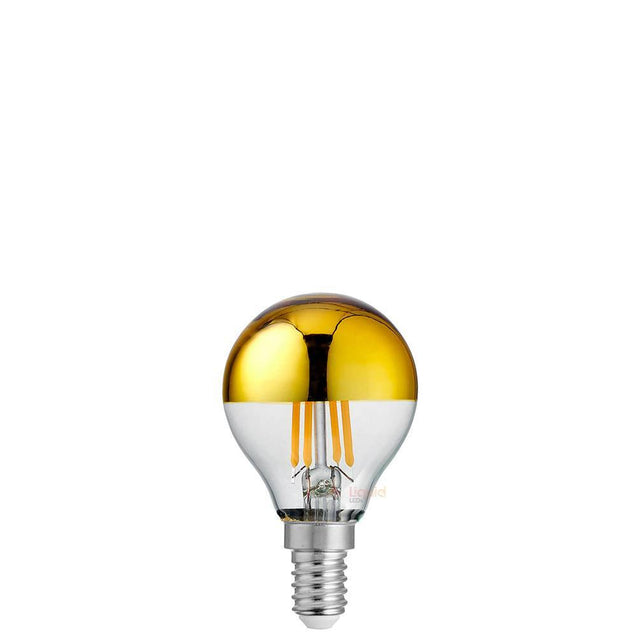 4W Fancy Round Gold Crown Dimmable LED Bulb (E14)
