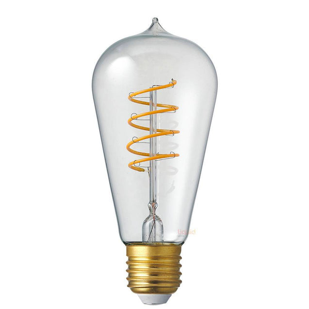 4W Edison Spiral Dimmable LED Bulb (E27) in Extra Warm White