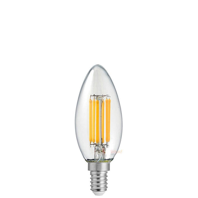 6W 12 Volt Candle Dimmable LED Bulb (E14) Clear in Warm White