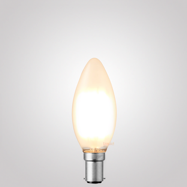 6W Candle Dimmable LED Bulb (B15) Frost in Warm White