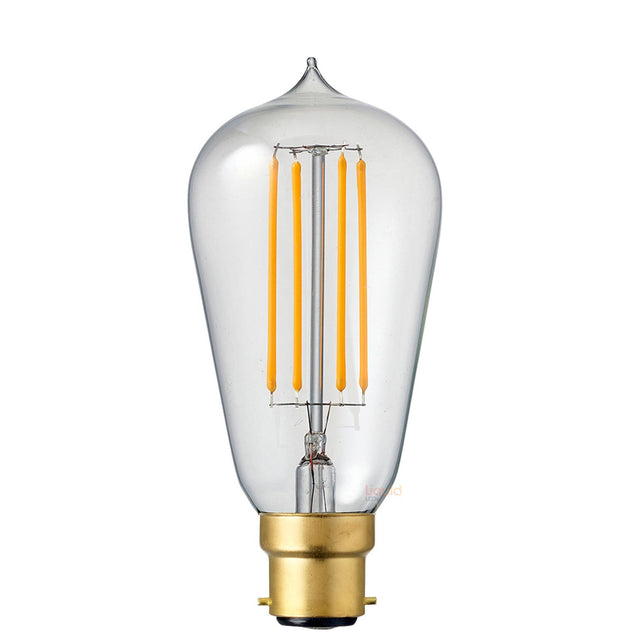 6W Edison Dimmable LED Light Bulb (B22) in Extra Warm White