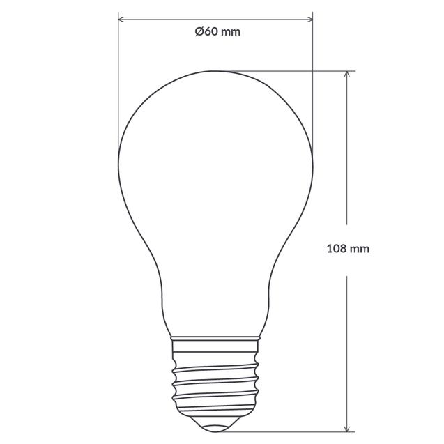 6W 12-24 Volt GLS Dimmable LED Light Bulb (E27) Frosted