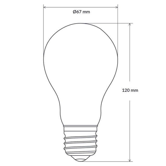14W GLS Dimmable LED Bulb (E27) in Natural White