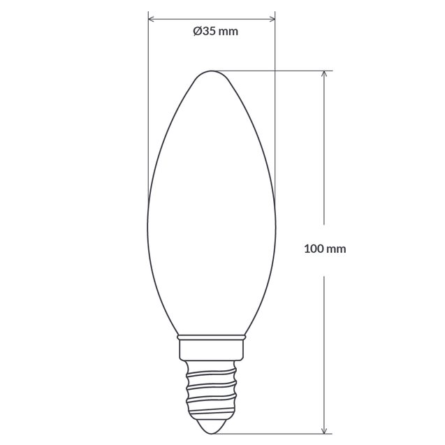 4W Candle Dimmable LED Bulb (E14) Frosted in Natural White