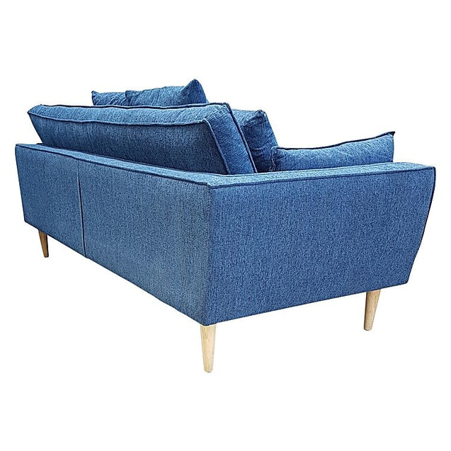 Bella 3 Seater Sofa Blue - 3 Seater Sofa 6ixty BESBL