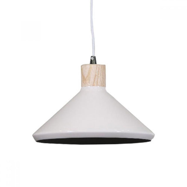 Bengt Pendant Light - White - Pendant Light She Lights MY290Wd/W