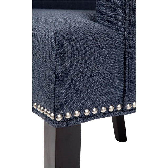 Bentley Armchair - Navy - Dining Chairs Cafe Lighting & Living 31757