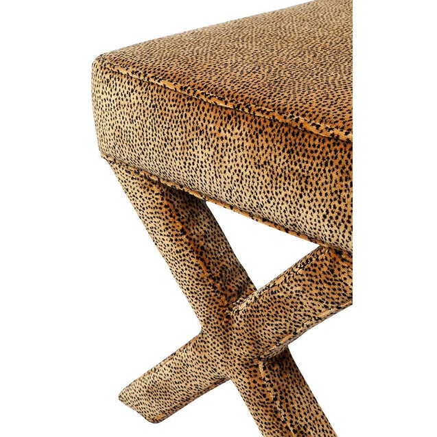 Caesar Bed End - CHEETAH - Bed Ends & Ottomans Cafe Lighting & Living 31786