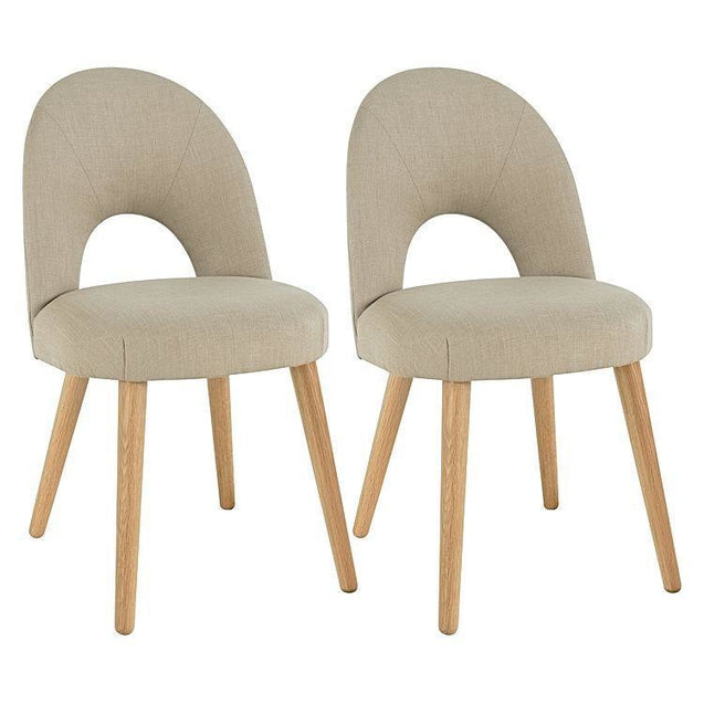 Charlie Dining Chair Stone (Set of 2) - Dining Chair 6ixty CCS