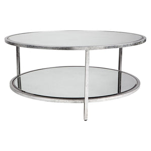 Cocktail Coffee Table Round - Silver - Coffee Cafe Lighting & Living 31967