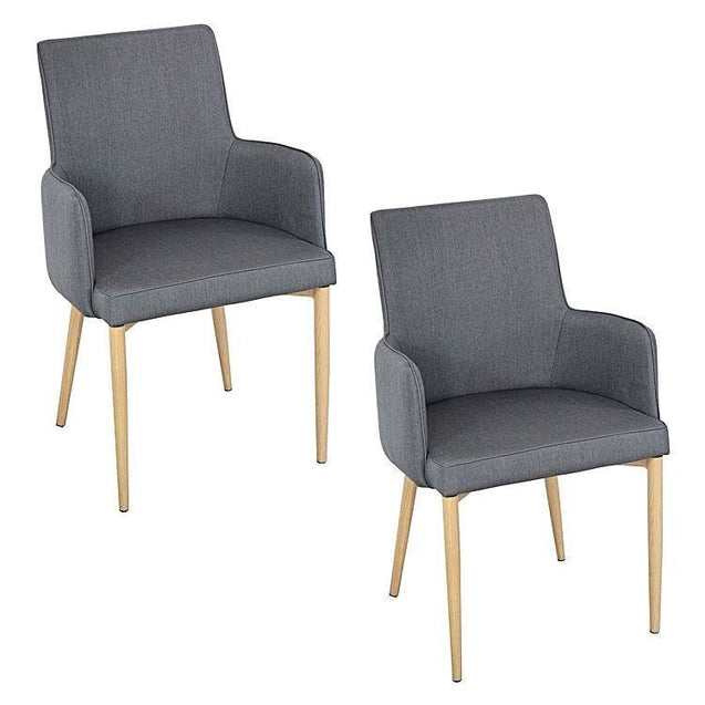 Corporate Dining Armchair Grey (Set of 2) - Dining Armchair 6ixty CORGY