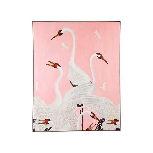 Dreaming Crane Wall Art - Oil Cafe Lighting & Living 52302