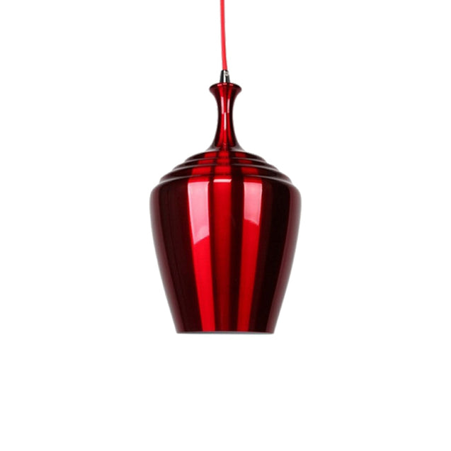 Eva Wide Pendant Light - Wine Red - Pendant Light She Lights 2011WR