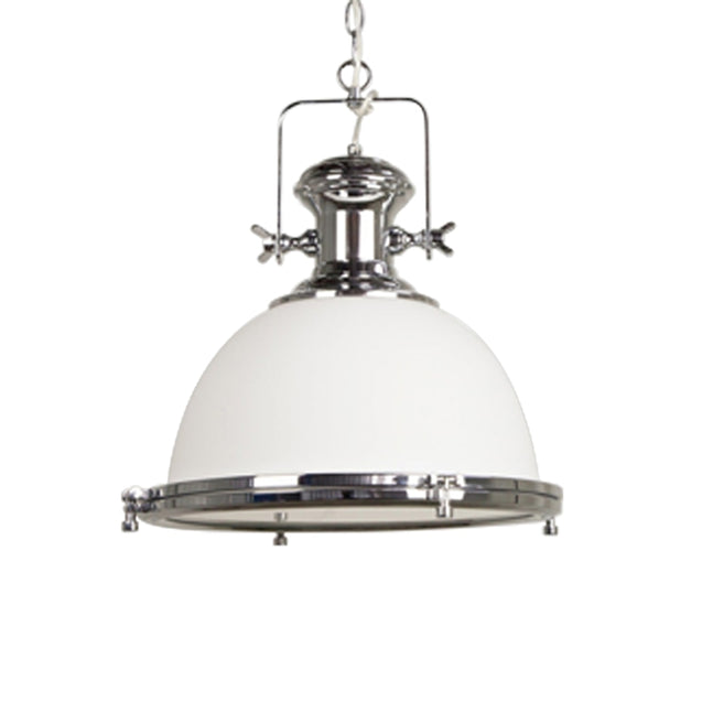 Gaia Industrial Pendant Light - Chrome - Pendant Light She Lights 6599GL/6589GL