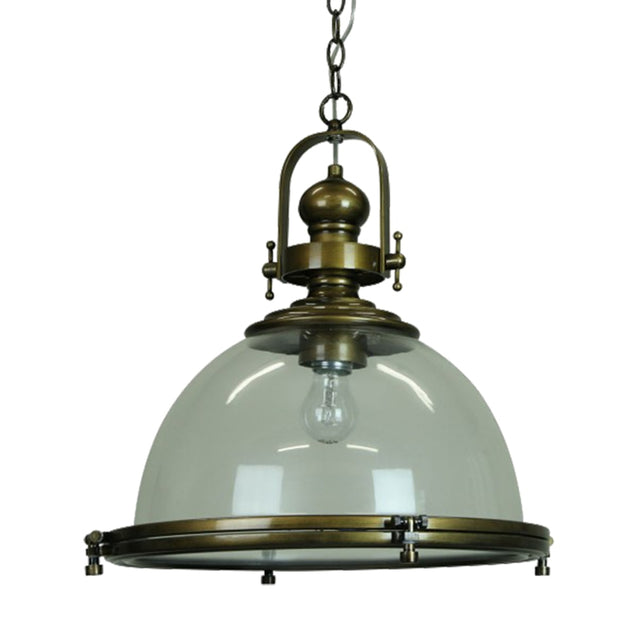 Gaia Industrial Pendant Light - Gold - Pendant Light She Lights 6589CAB