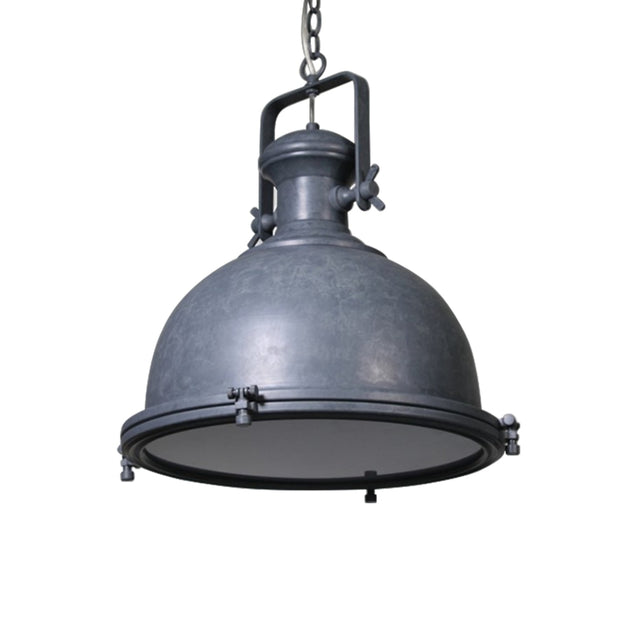 Gaia Industrial Pendant Light - Grey - Pendant Light She Lights 6589CE