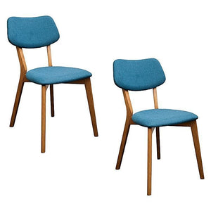 Jelly Bean Dining Chair (Set of 2) - Teal - Dining Chair 6ixty JBT