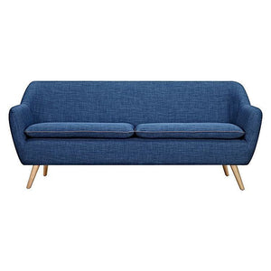 Luxe 3 Seater Sofa Dark Blue - Sofa 6ixty LUX3DB