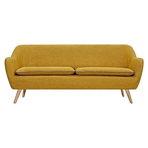Luxe 3 Seater Sofa Yellow - Sofa 6ixty LUX3YL