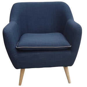 Luxe Armchair Navy Blue - Armchair 6ixty LUXANB