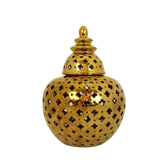 Miccah Temple Jar - Large - Gold - Home Accents Cafe Lighting & Living 51435
