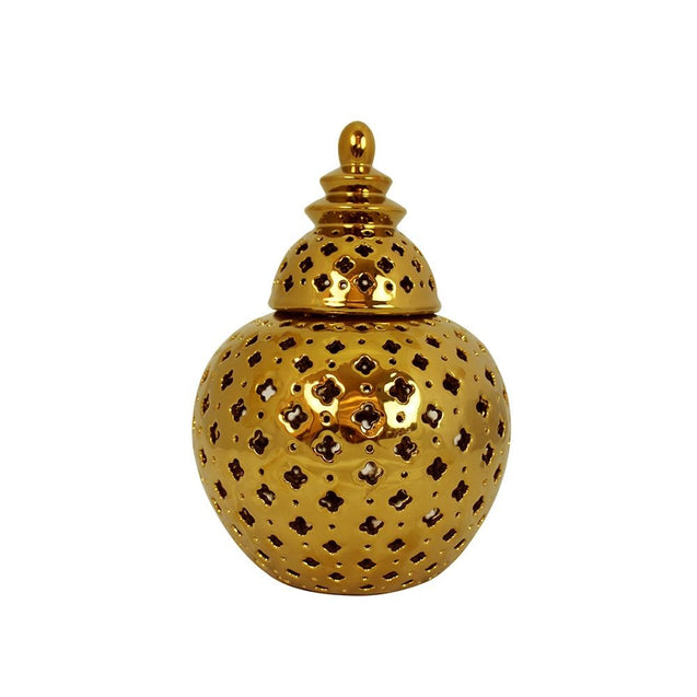 Miccah Temple Jar - Medium - Gold - Home Accents Cafe Lighting & Living 51434