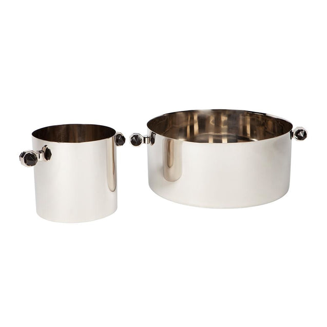 Paxton Wine Cooler - Silver - Bowls & Buckets Cafe Lighting & Living 52254