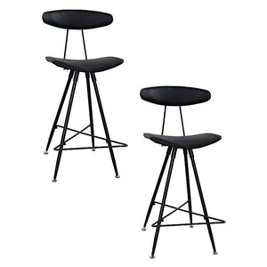 Rialto Bar Stool Black (Set of 2) - Bar Stool 6ixty RIABL