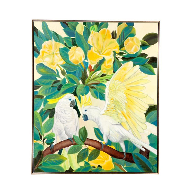 Sitting Cockatoo Wall Art - Oil Cafe Lighting & Living 51944