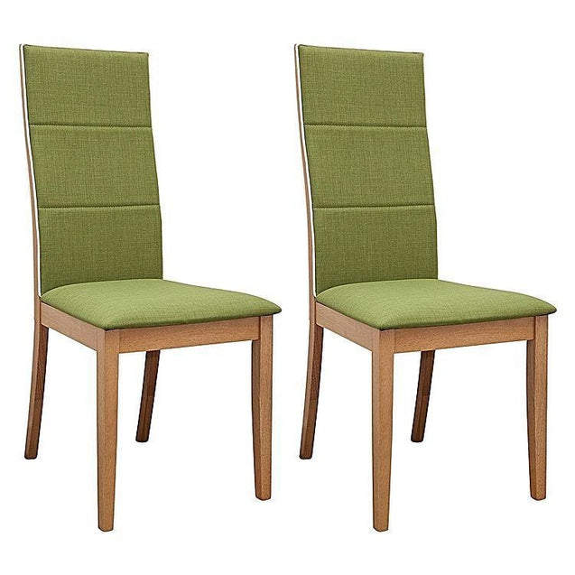 Society Oak Dining Chair (Set of 2) - Green - Dining Chair 6ixty SCGO