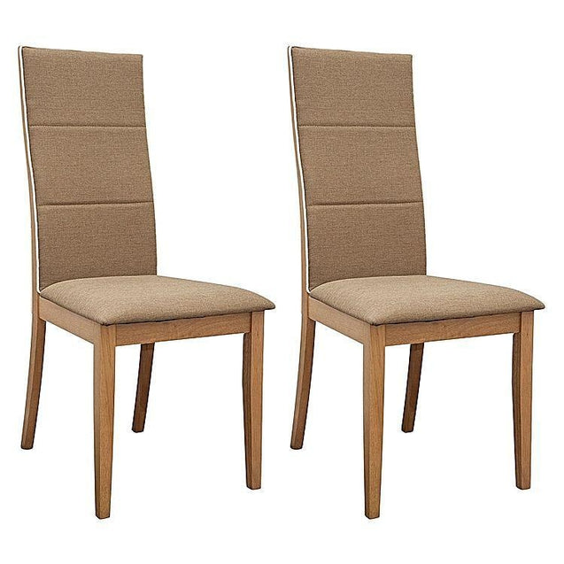 Society Oak Dining Chair (Set of 2) - Khaki - Dining Chair 6ixty SCKO