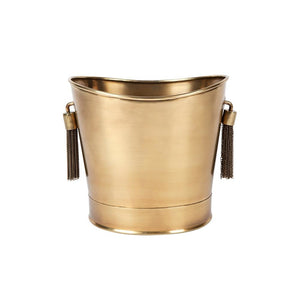 Tassell Ice Bucket - Brass - Bowls & Buckets Cafe Lighting & Living 51932
