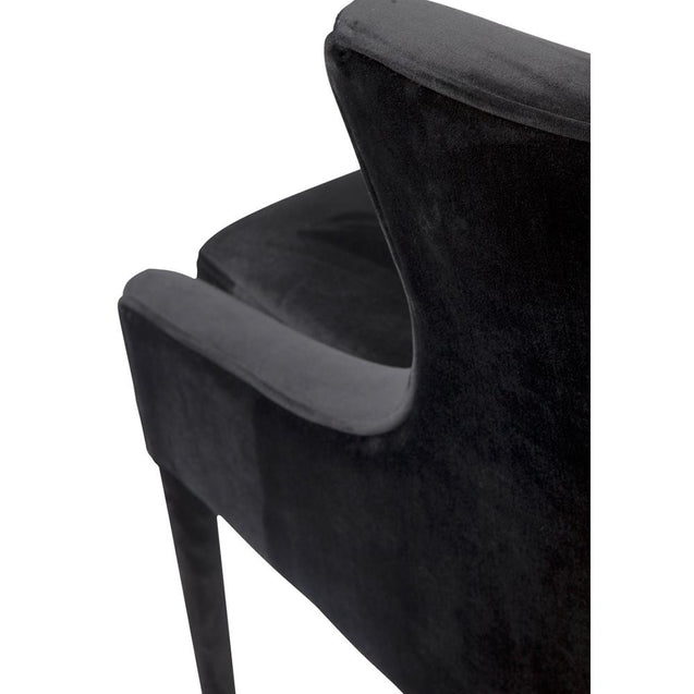 Tillie Armchair - Black - Occasional Chairs Cafe Lighting & Living 31833