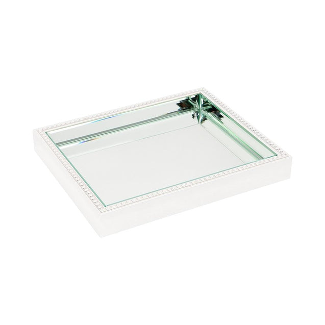 Zeta Tray - Small - White - Trays Cafe Lighting & Living 52318