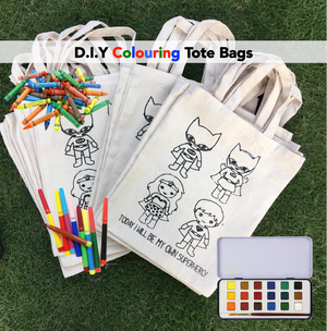 D.I.Y Colouring 'I will be my own Superhero' Tote Bag