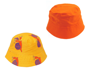 Yellow Snail Bucket Hat