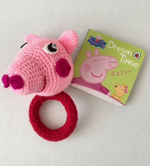 Baby Piglet Crochet Teether