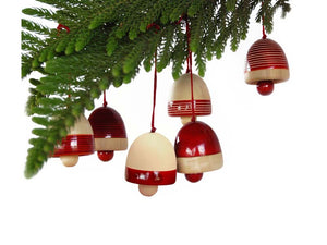 Jingle Bells Wooden Ornaments (Set of 4)