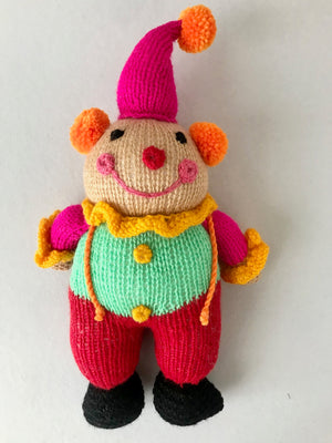 Little Clown Handknit Toy