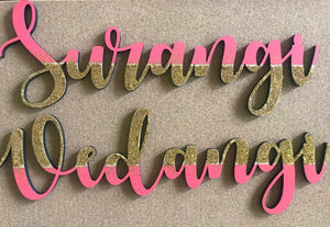Customised Wooden Name Plaques