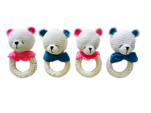 Baby Bear Crochet Teether