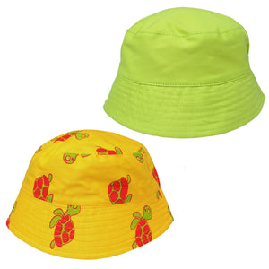 Yellow Turtle Bucket Hat
