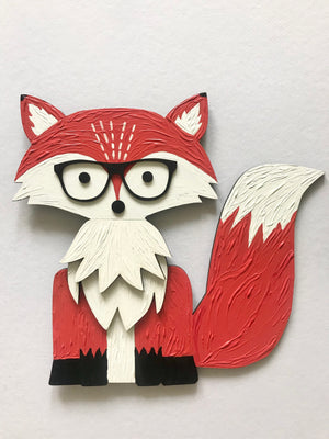 Foxy - Art on Wood