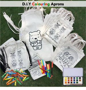 D.I.Y Colouring 'Winnie the Pooh' Aprons