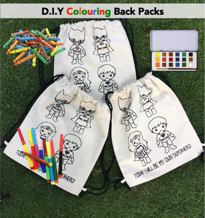 D.I.Y Colouring 'I will be my own Superhero' Back Pack
