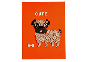Cute as a Button - Art on Canvas