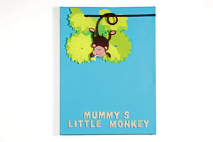 Mummy's Little Monkey - Art on Canvas