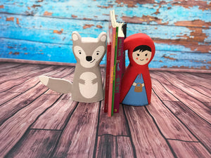 Little Red Riding Hood and Wolf Bookend
