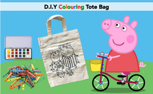 D.I.Y Colouring Peppa Pig Tote Bag